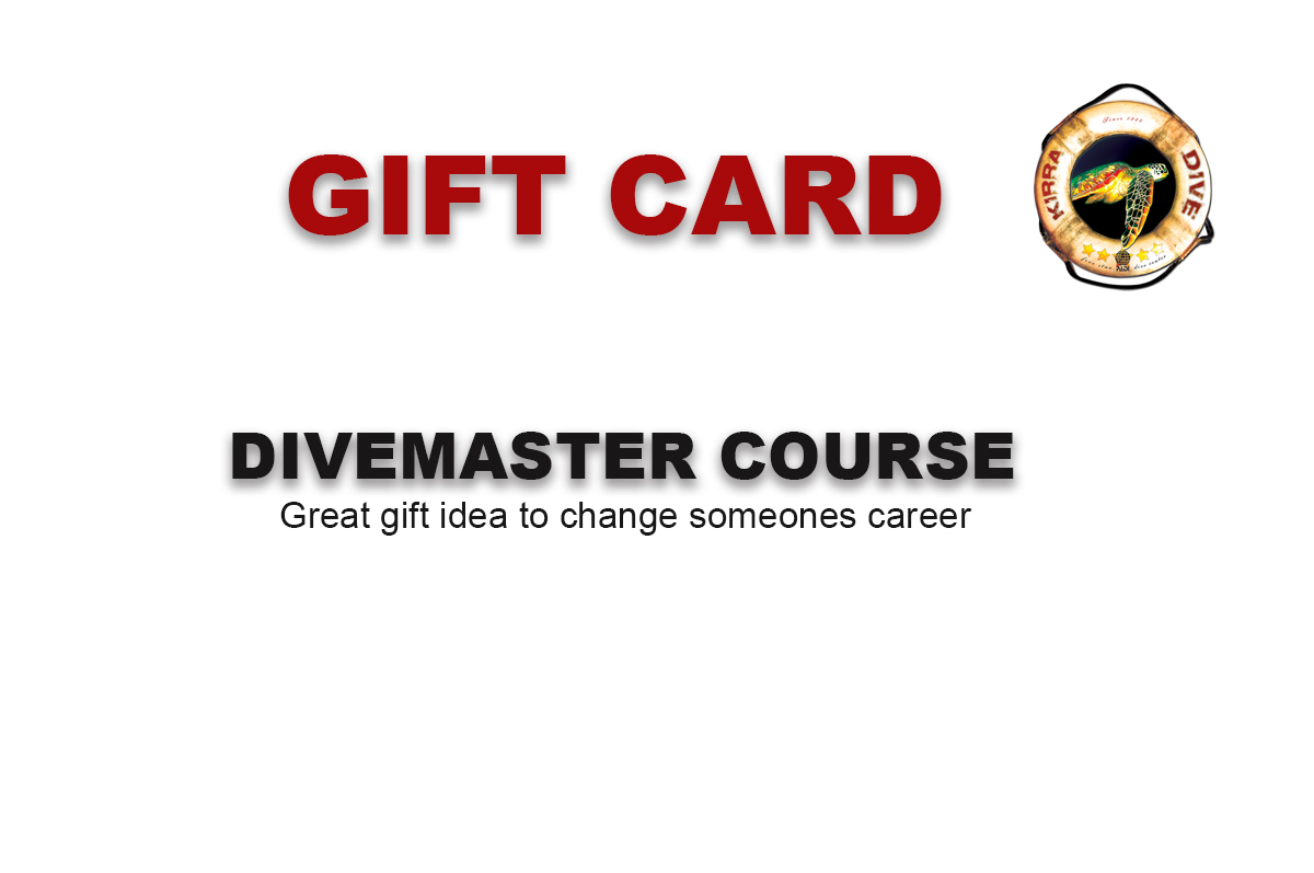 DIVEMASTER  COURSE GIFT CARD
