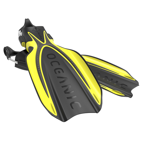 Mantaray Fin R - Yellow/Black