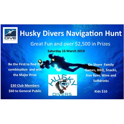 Husky Divers Navigation Hunt
