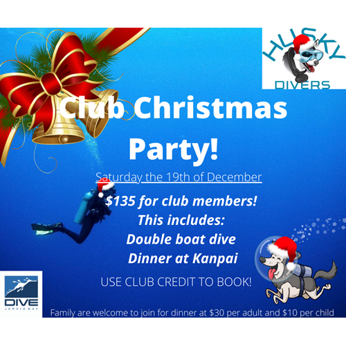 Club XMAS dive and dinner